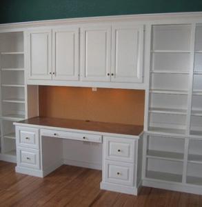 Librerie in legno roma for Libreria con scrivania incorporata