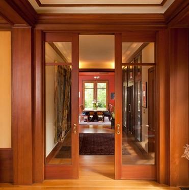 porta interna scorrevole legno e vetro